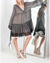 Stella McCartney - Black Lurex Peasant Dress - Lyst
