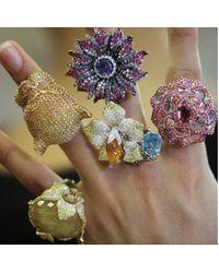 Wendy Yue - Multicolor Mandarin Garnet Flower Ring - Lyst