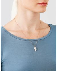 Anita Ko - Metallic Diamond Palm Leaf Necklace - Lyst