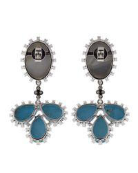 Dana Rebecca - Multicolor Turquoise & Opal Earrings Earrings - Lyst