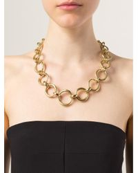 Vaubel - Metallic Chunky Oval Link Necklace - Lyst