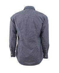 Eleventy - Blue Plaid Collared Shirt for Men - Lyst