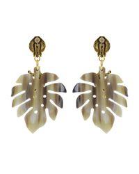 Oscar de la Renta - Metallic Small Jungle Horn Earrings - Lyst