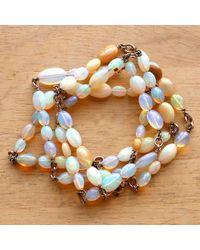 Sylva & Cie - Metallic Ethiopian Opal Bead Necklace - Lyst