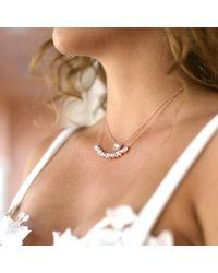 Dana Rebecca - Metallic Sylvie Rose Moonstone Necklace - Lyst
