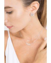 Dana Rebecca - Metallic Sadie Pearl Diamond Baguette Necklace - Lyst