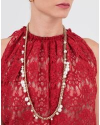 Lanvin - White Long Pearl Necklace - Lyst