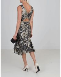 Marchesa notte - Metallic Cocktail Dress - Lyst