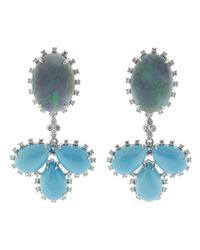 Dana Rebecca - Multicolor Turquoise & Opal Earrings Earrings - Lyst
