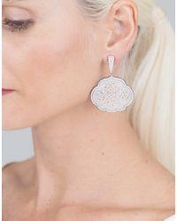 Inbar - Carved White Jade Cloud Earrings - Lyst