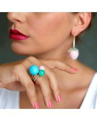 Irene Neuwirth - Pink Opal Diamond Pave Ring - Lyst
