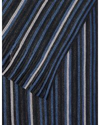 Marks & Spencer | Blue Striped Raschel Scarf for Men | Lyst