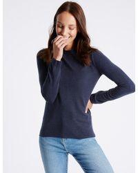 Marks & Spencer - Blue Round Neck Jumper - Lyst