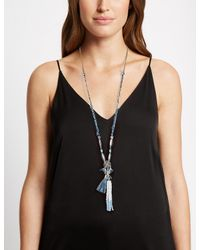 Marks & Spencer - Metallic Seed Bead Tassel Necklace - Lyst