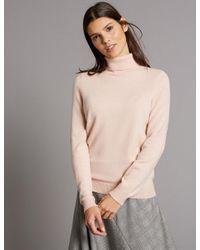Marks & Spencer - Multicolor Pure Cashmere Roll Neck Jumper - Lyst
