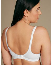 Marks & Spencer - White Post Surgery Vintage Lace Padded Full Cup Bra - Lyst