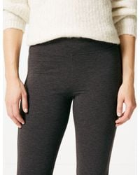 Marks & Spencer - Gray Brushed Back Leggings - Lyst