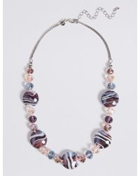 Marks & Spencer - Multicolor Garden Glass Necklace - Lyst