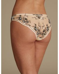 Marks & Spencer - Natural Peekaboo Brazilian Knickers - Lyst