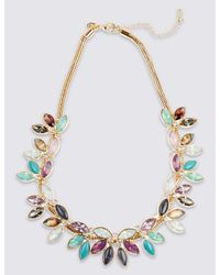 Marks & Spencer - Metallic Multi Leaf Collar Necklace - Lyst