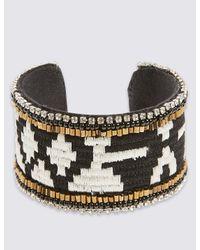 Marks & Spencer - Black Aztec Cuff Bracelet - Lyst