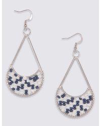 Marks & Spencer | Blue Seed Beaded Teardrop Earrings | Lyst