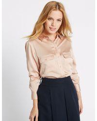 Marks & Spencer - Multicolor Petite Long Sleeve Shirt - Lyst