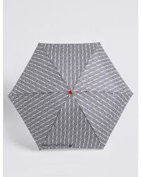 Marks & Spencer - Blue Printed Compact Umbrella With Stormweartm - Lyst