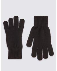 Marks & Spencer - Black Knitted Gloves for Men - Lyst
