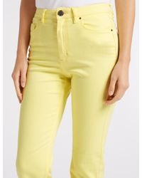 Marks & Spencer - Yellow Sculpt & Lift Roma Rise Slim Leg Jeans - Lyst