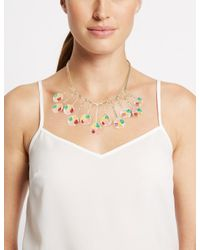 Marks & Spencer - Multicolor Splash Paint Paddle Disc Necklace - Lyst