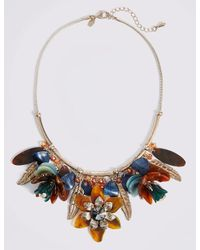 Marks & Spencer - Multicolor Resin Cluster Necklace - Lyst