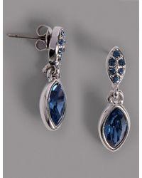 Marks & Spencer - Multicolor Pavé Navette Diamanté Drop Earrings Made With Swarovski® Elements - Lyst