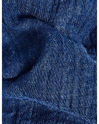 Marks & Spencer - Blue Crinkle Scarf - Lyst