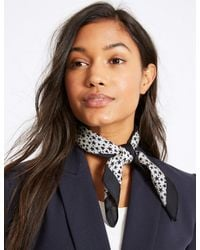 Marks & Spencer - Multicolor Heart & Star Print Scarf - Lyst