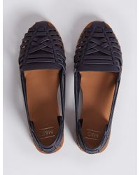 Marks & Spencer - Blue Woven Pumps - Lyst