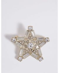 Marks & Spencer - Metallic Star Brooch - Lyst