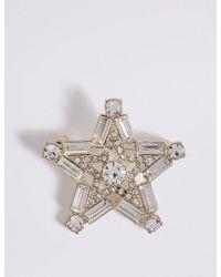 Marks & Spencer | Metallic Star Brooch | Lyst