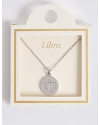 Marks & Spencer - Metallic Libra Necklace - Lyst