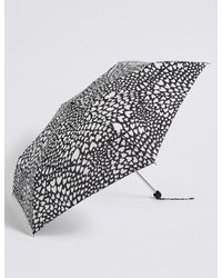 Marks & Spencer | Black Heart Print Umbrella With Stormweartm | Lyst