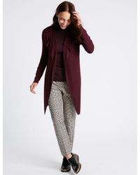 Marks & Spencer | Red Open Front Cardigan | Lyst
