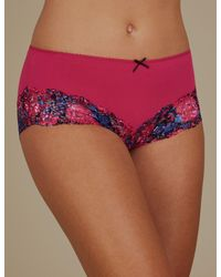 Marks & Spencer - Pink Midi Knickers - Lyst