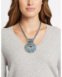 Marks & Spencer - Blue Shimmer Disc Collar Necklace - Lyst