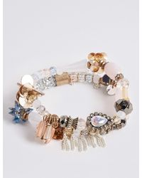 Marks & Spencer - Metallic Sequin Cluster Bracelet - Lyst