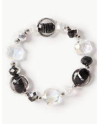 Marks & Spencer - Black Spiral Glass Bracelet - Lyst