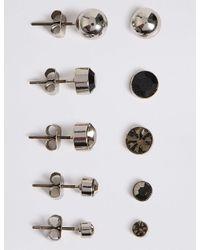 Marks & Spencer - Metallic 5 Pack Of Stud Earrings Set - Lyst