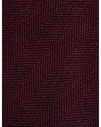 Marks & Spencer - Purple Wool Rich Herringbone Tie for Men - Lyst
