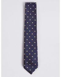 Marks & Spencer - Blue Novelty Tie for Men - Lyst