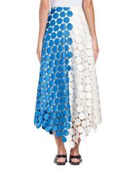 Marni - Blue Runway Skirt In Dot Macramé - Lyst