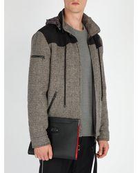 Christian Louboutin - Black Pochette en cuir ornée de clous Skypouch Loubicity for Men - Lyst
